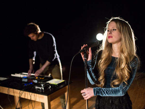 Marian Hill at Haverford Middle School in Havertown, PA on January 25, 2014.